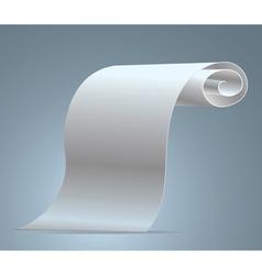 blank sheet of white vector image