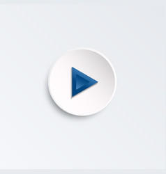 blue button for music player vector image