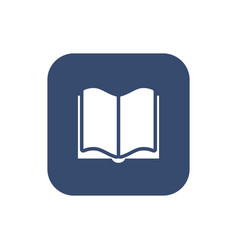 book icon flat design vector image