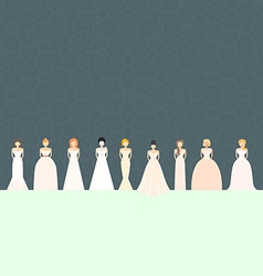 Brids In Wedding Dresses vector