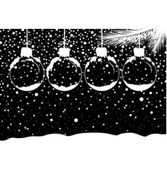 Christmas concept design of blank snow ball vector