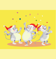 christmass mouses vector image