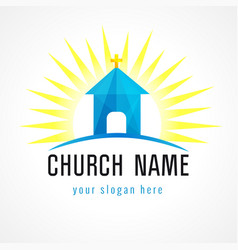 Church house logo vector
