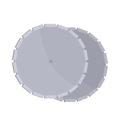 Circular saw blade icon cartoon style vector image