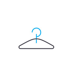 clothes hanger thin line stroke icon vector image