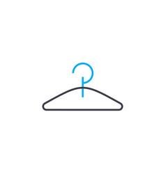 clothes hanger thin line stroke icon vector image
