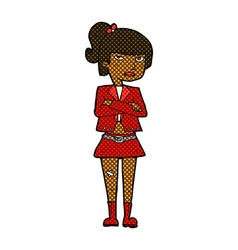 comic cartoon cool girl vector image
