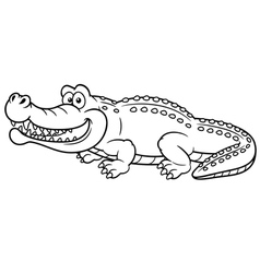 Crocodile outline vector
