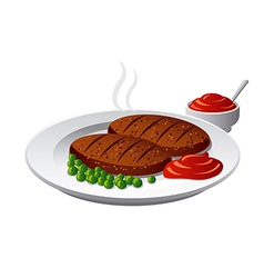 cutlets vector image