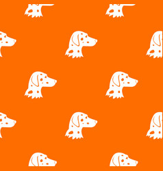 Dalmatians dog pattern seamless vector