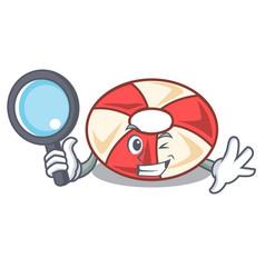 Detective swim tube character cartoon vector