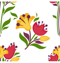 easter paschal seamless spring flowers pattern vector image
