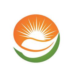 Eco green logo vector