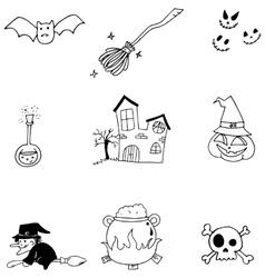 Element halloween doodle flat vector image