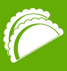 Empanadas de pollo icon green vector