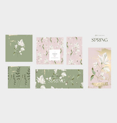 floral collection spring banners vector image