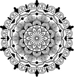 flower mandala vintage decorative elements vector image