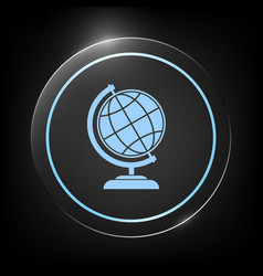globe symbol - earth icon vector image