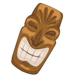golden mayan mask with smile culture and tradition vector image