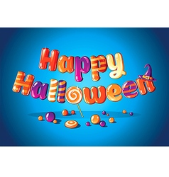 Halloween candy poster vector