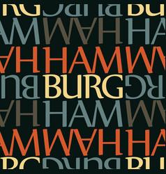hamburg germany seamless pattern vector image