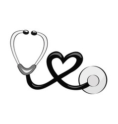 hand draw stethoscope for the topic of medicine vector image