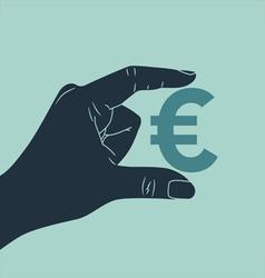 Hand euro vector