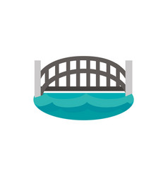 harbour bridge landmark australia icon on white vector image