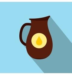 Honey crock flat icon vector image
