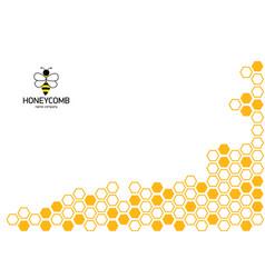 honeycomb background pattern orange color corner vector image