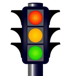 Hooded traffic lights vector