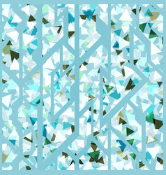 ice triangles pattern vector image