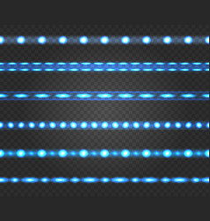 led light strips vector image