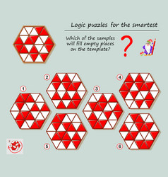 Logic puzzle game for smartest which vector