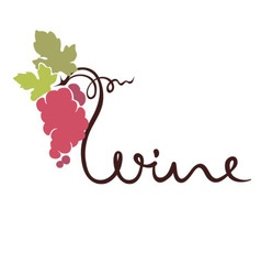 Logotype sign - wine vector image