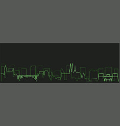 luxembourg futurist technology light trace skyline vector image