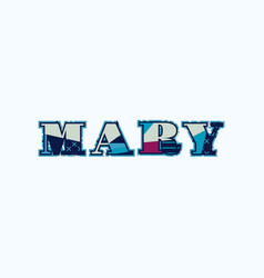 Mary concept word art vector