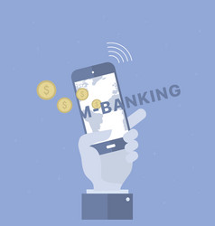 Mobile banking background vector