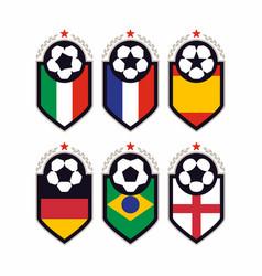 modern professional set of balls emblem vector image