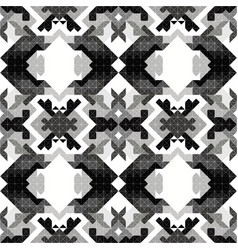 monochrome pixels beautiful abstract geometric vector image