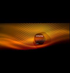 neon glowing techno hexagon shape lines hi-tech vector image
