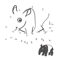 numbers game malayan tapir vector image