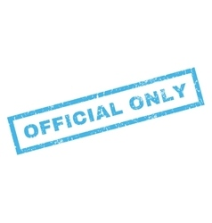 Official Only Rubber Stamp vector