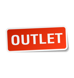 Outlet square sticker on white vector