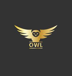 owlflying logo design vector image