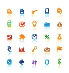 Perfect icons for business metaphor vector image