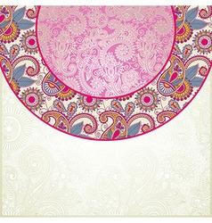 Pink floral ornamental pattern vector