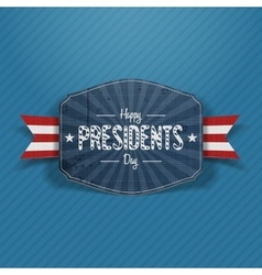 Presidents Day greeting blue Banner vector image