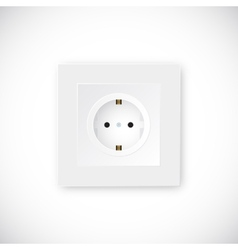 Realistic Socket Template vector