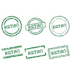 Retro stamps vector image